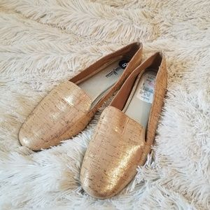Neiman Marcus brown gold loafers 8